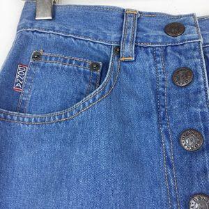 Vintage Skirts - Vintage 90s  high waisted denim midi pencil skirt